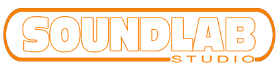 Logo Soundlab Charte ORANGE ET BLANC